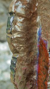 Scultura in Ceramica Cactus Euphorbia Bronzo