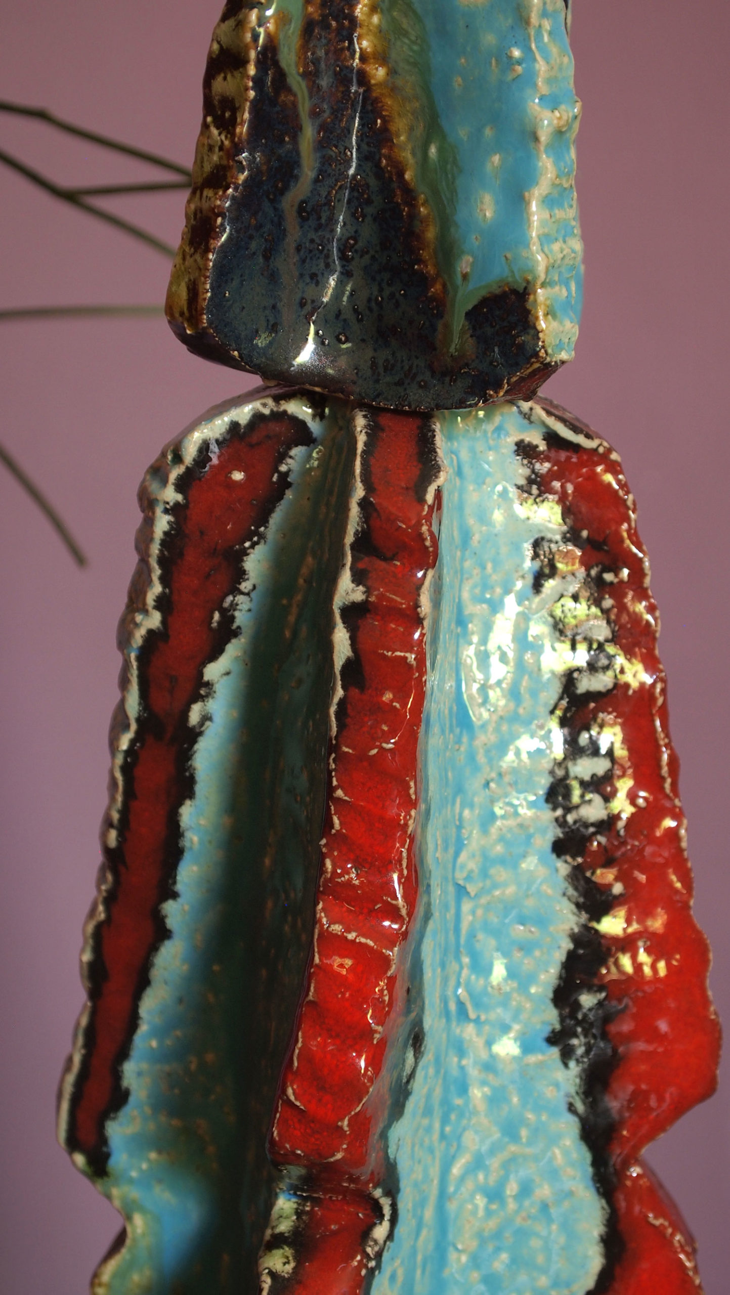 Scultura in Ceramica Cactus Euphorbia