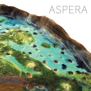 Piatto in Ceramica decorato a mano Serie Aspera