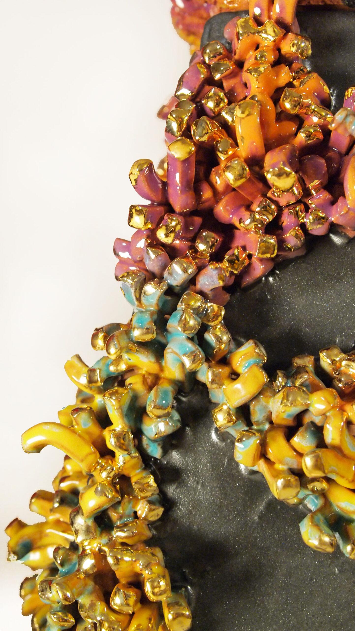 Scultura in ceramica il Sogno dei Licheni