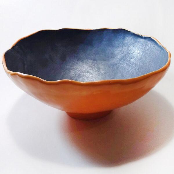 Ciotola in ceramica Ardesia modellata a mano